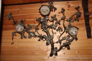 Кованая металлическая люстра, светильник Акант