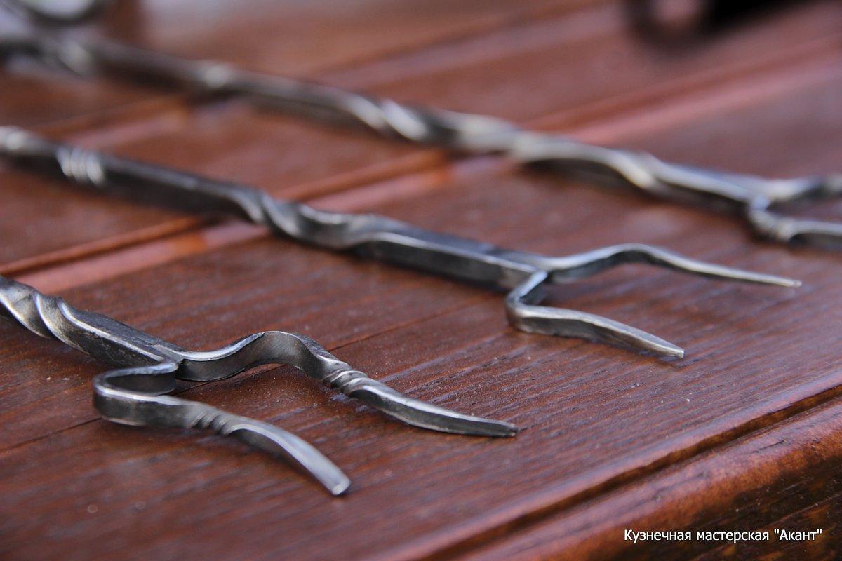 Кованая вилка для мяся из нержавеющей стали
