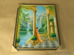 """Картина """"Девушка и водопады"""""""