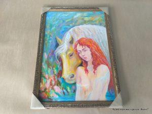 "Картина ""Девушка с лошадью"""