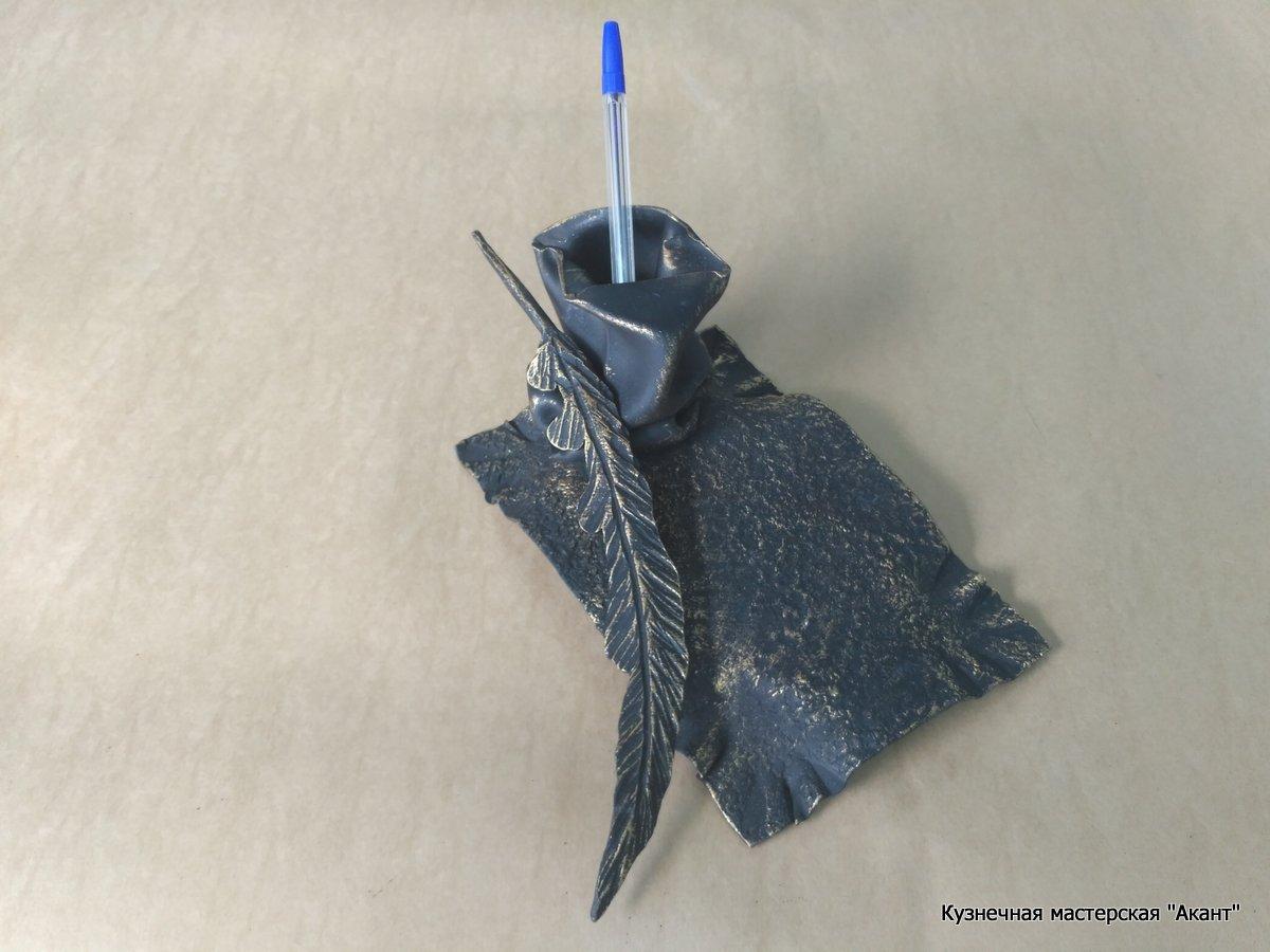 Подставка для ручек перо-1, визитница  Акант