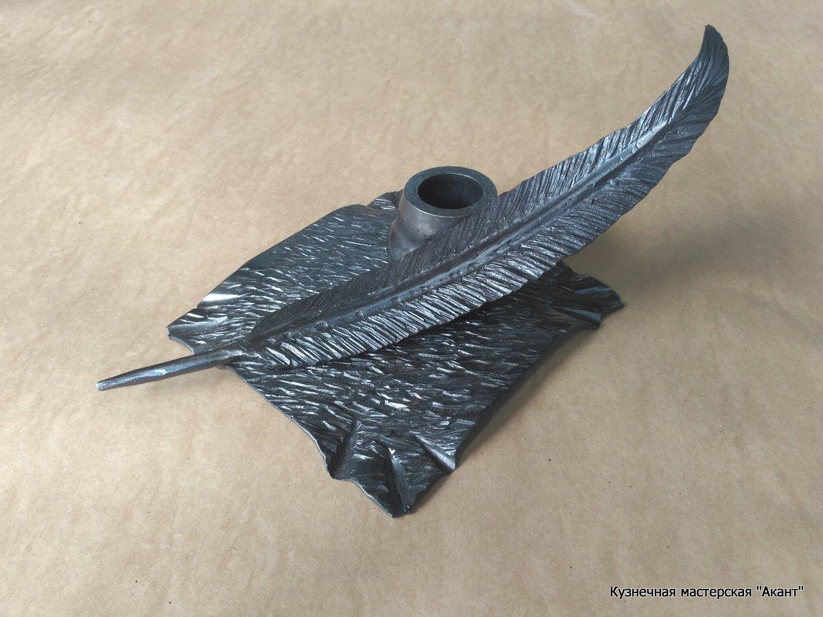 Подставка для ручек перо-2, визитница  Акант